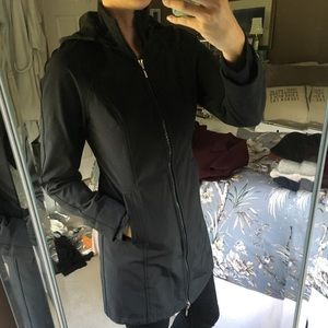 Jackets & Blazers - 2 for 1 Black fleece lined rain coat